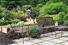 Pátio do jardim Fotos de Stock Royalty Free