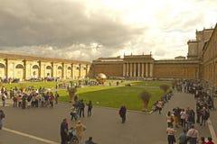 Pátio do museu do Vaticano Fotos de Stock
