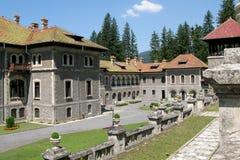 Pátio do palácio de Cantacuzino Imagem de Stock
