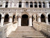 Pátio do palácio do Doge imagem de stock