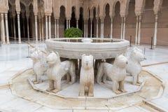 Pátio dos leões Imagem de Stock