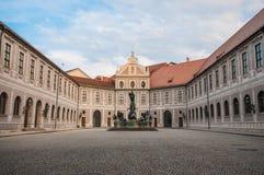 Pátio histórico dentro do Residenz em Munich, Alemanha uma vez t fotografia de stock