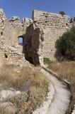 Pátio interno do castelo medieval de Kastellos Imagens de Stock Royalty Free