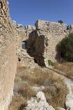 Pátio interno do castelo medieval de Kastellos Foto de Stock Royalty Free