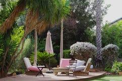 Pátio luxuoso em Israel suburbana Foto de Stock Royalty Free