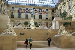 Pátio margoso no Louvre Fotos de Stock Royalty Free
