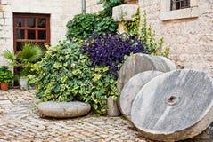 Pátio medieval, Trogir, Croatia Imagem de Stock