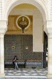 Pátio principal de Casa de Pilatos em Sevilha, Spain Fotografia de Stock