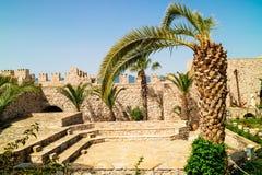 Pátio restaurado do castelo medieval em Marmaris Fotos de Stock