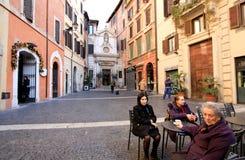Pátio surpreendente em Roma Fotografia de Stock