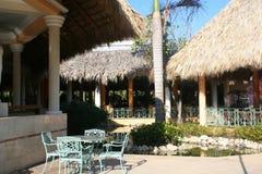 Pátio tropical ao ar livre Foto de Stock