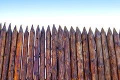 Pâlissement rural des rondins Photographie stock libre de droits