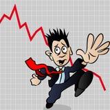 Pânico ilustração stock