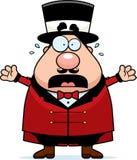 Pânico do diretor do circo do circo dos desenhos animados Fotografia de Stock