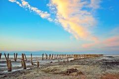 Pântano de sal velho Fotos de Stock