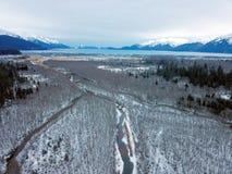 Pântano do Alasca congelado imagens de stock
