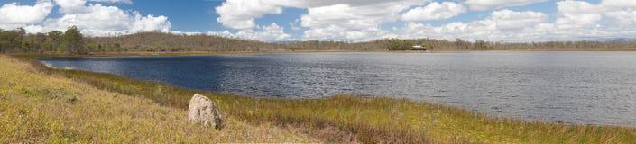 Pântano do Australian do billabong dos pantanais imagem de stock