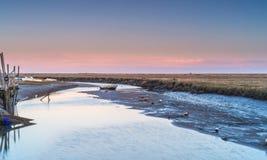 Pântanos de Blakeney fotografia de stock