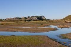 Pântanos em Cantábria, Espanha Foto de Stock