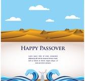 Pâque heureuse hors des juifs d'Egypte. illustration stock