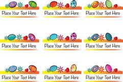 Pâques : Éléments de conception et décoration calligraphiques de page Image libre de droits