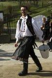 Pâques arrosant dans Holloko, Nograd, Hongrie Photographie stock libre de droits