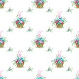 Pâques Bunny Ears pattern-01 Images libres de droits