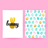 Pâques Bunny Hipster Posters Illustration Stock
