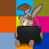 Pâques Bunny Sale Bag Photographie stock