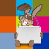 Pâques Bunny Sale Bag Photographie stock libre de droits