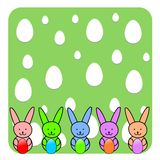 Pâques Bunny Wallpaper - illustration Photographie stock libre de droits