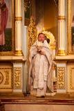 Pâques, cérémonie de prière de l'église orthodoxe. Photo libre de droits