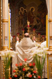 Pâques, cérémonie de prière de l'église orthodoxe. Photo stock