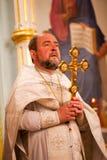 Pâques, cérémonie de prière de l'église orthodoxe. Photos libres de droits