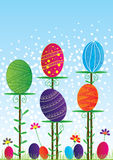 Pâques Card_eps coloré Image libre de droits