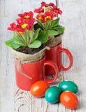 Pâques a coloré des oeufs Photo libre de droits
