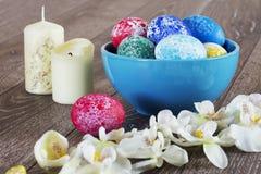 Pâques a coloré des oeufs Photos libres de droits