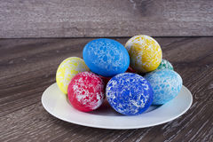 Pâques a coloré des oeufs Images stock