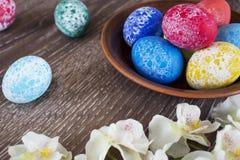 Pâques a coloré des oeufs Photos stock