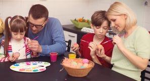 Pâques, concept de la famille photographie stock