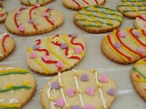 Pâques a décoré des biscuits Images libres de droits
