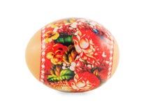 Pâques a décoré l'oeuf d'isolement au-dessus du blanc image stock