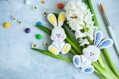 Pâques décorée Bunny Cookies Images stock
