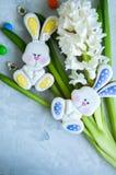 Pâques décorée Bunny Cookies Image stock