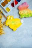 Pâques décorée Bunny Cookies Images libres de droits