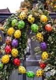 Pâques dans la ville européenne photographie stock