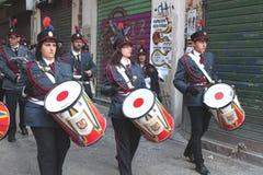 Pâques en Sicile, vendredi saint - notre Madame dans le cortège - l'Italie Images libres de droits