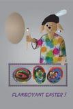 Pâques flamboyante Images libres de droits