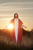 Pâques levée bénissant des mains Photo stock