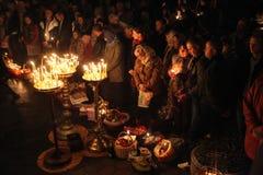 Pâques orthodoxe à Prague, République Tchèque Images libres de droits